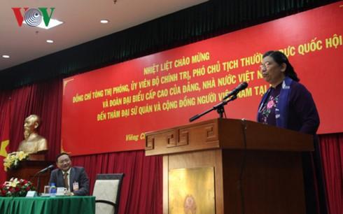 Phó Chủ tịch Quốc hội thăm và nói chuyện với kiều bào Việt Nam tại Lào - ảnh 1