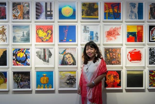 Nguyễn Mai Hương với bộ đôi giải thưởng của Triển lãm Mỹ thuật quốc tế Hàn Quốc - ảnh 3