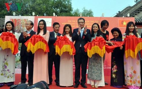 Triển lãm tranh - giao lưu văn hoá Việt Nam tại Bắc Kinh - ảnh 1