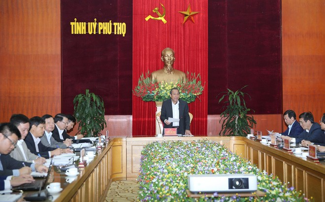 Phó Thủ tướng Thường trực Chính phủ Trương Hòa Bình làm việc tại tỉnh Phú Thọ  - ảnh 1
