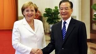 Bundeskanzlerin Angela Merkel zu Gast in China - ảnh 1