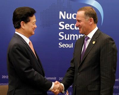 Premierminister Nguyen Tan Dung hält eine Rede beim Atomsicherheitsgipfel - ảnh 2