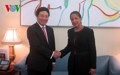 Vize-Premierminister Pham Binh Minh zu Gast in den USA - ảnh 2