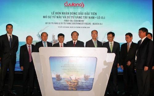 Erste Erdölmenge aus den Projekten Su Tu Nau und Su Tu Vang Tay Nam - ảnh 1