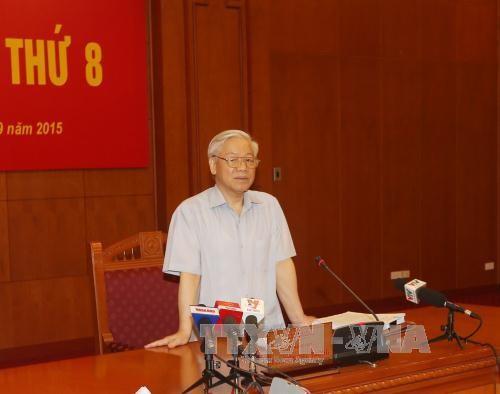 KPV-Generalsekretär Nguyen Phu Trong leitet die Sitzung über Korruptionsbekämpfung - ảnh 1