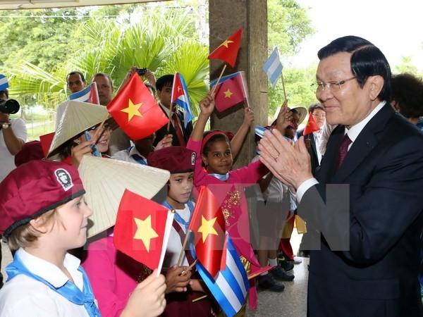 Staatspräsident Truong Tan Sang beendet seinen Besuch in Kuba - ảnh 1