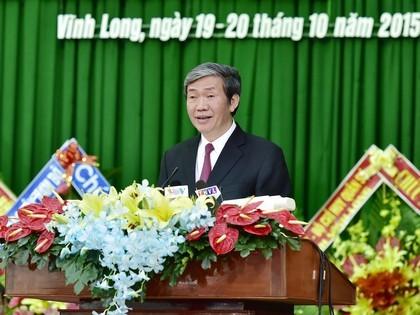 Politbüromitglied Dinh The Huynh nimmt an der Sitzung der Parteileitung in Vinh Long teil - ảnh 1
