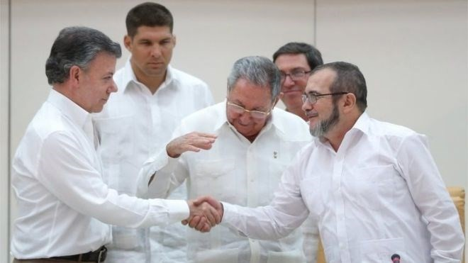 Kolumbiens Präsident bietet FARC Waffenstillstand an - ảnh 1