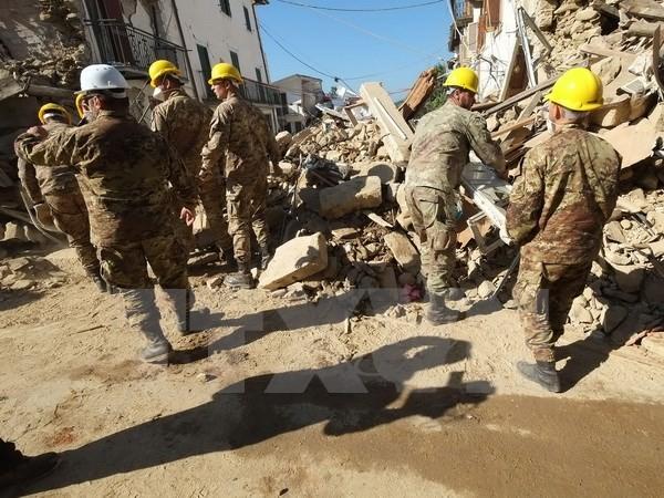 Nationale Trauerfeier für Erdbeben-Opfer in Italien - ảnh 1