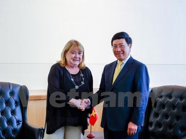 Aktivitäten des Vize-Premierministers Pham Binh Minh am Rande der UN-Vollversammlung - ảnh 1