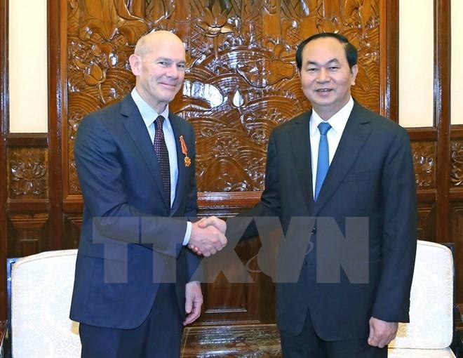 Staatspräsident Tran Dai Quang verleiht Freundschaftsorden an World Vision International - ảnh 1