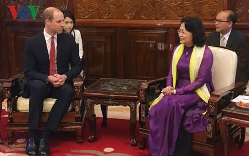 Vizestaatspräsidentin Dang Thi Ngoc Thinh empfängt Herzog von Cambridge William Arthur Philip Louis - ảnh 1