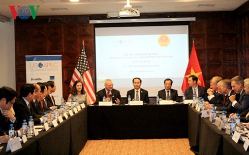 Staatspräsident Trai Dai Quang empfängt Vertreter der Union der US-Unternehmen auf APEC  - ảnh 1