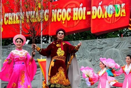 Dong Da-Hügelfest: Darstellung des historischen Kampfes gegen die Eroberung - ảnh 17