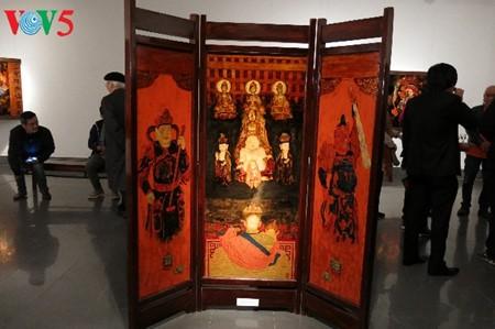 Das Hau Dong-Ritual in den Lackbildern von Tran Tuan Long - ảnh 6