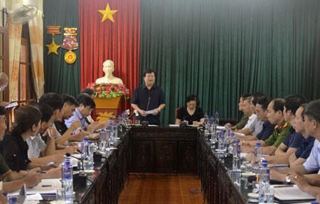 Crues : Trinh Dinh Dung en déplacement à Mu Cang Chai  - ảnh 1