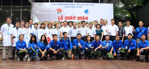 Les jeunes Hanoiens cultivent l'amitié et la solidarité spéciale Vietnam-Laos - ảnh 1