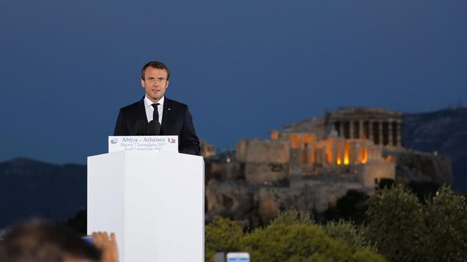 À Athènes, Emmanuel Macron veut refonder l'Europe - ảnh 1