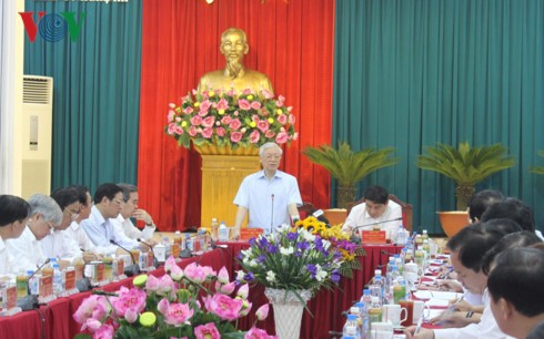 Nguyen Phu Trong en déplacement à Nghe An - ảnh 1