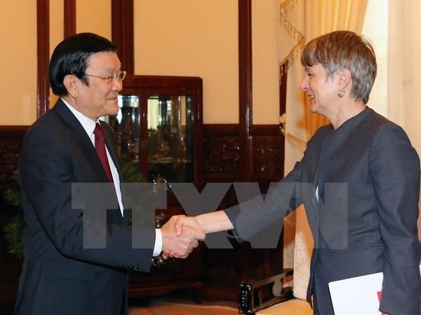 ประธานประเทศเจืองเติ๊นซางให้การต้อนรับเอกอัครราชทูตที่เข้าอำลาในโอกาสสิ้นสุดหน้าที่ตามวาระ - ảnh 1