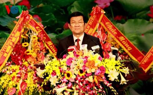 ประธานประเทศเจืองเติ๊นซางเข้าร่วมพิธีรำลึกครบรอบ 70ปีการก่อตั้งกองเสบียงของกองทัพ - ảnh 1