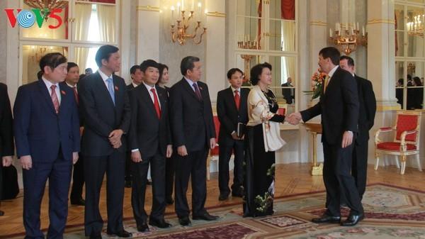 ประธานรัฐสภาเหงวียนถิกิมเงินพบปะกับประธานาธิบดีและนายกรัฐมนตรีฮังการี - ảnh 1
