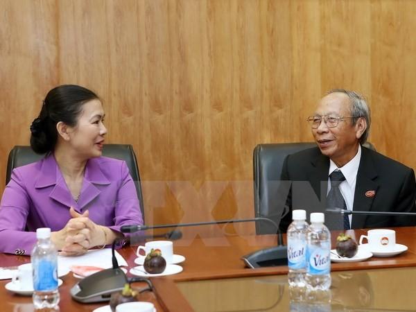 ผู้บริหารแนวร่วมปิตุภูมิเวียดนามให้การต้อนรับคณะผู้แทนสภาศาสนาบาไฮเวียดนาม - ảnh 1