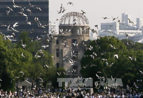 ญี่ปุ่นรำลึกครบรอบ72ปีวันสหรัฐทิ้งระเบิดปรมาณูใส่เมืองฮิโระชิมะ - ảnh 1