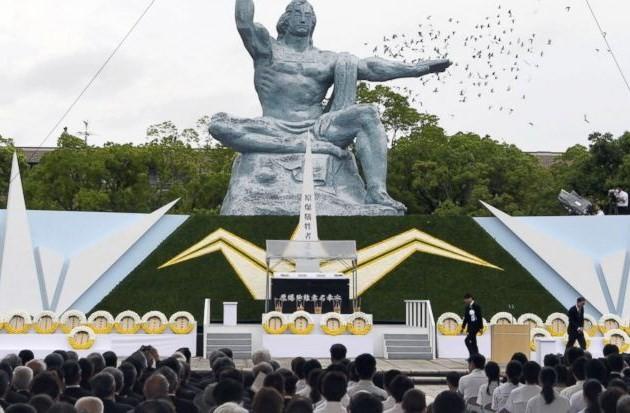 ญี่ปุ่นรำลึกครบรอบ72ปีวันสหรัฐทิ้งระเบิดปรมาณูใส่เมืองนางาซากิ - ảnh 1