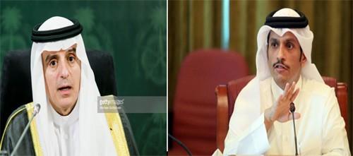 รัฐมนตรีต่างประเทศกาตาร์และรัฐมนตรีต่างประเทศซาอุดิอาระเบียพบปะครั้งแรกหลังการตัดความสัมพันธ์การทูต - ảnh 1