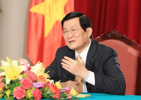 President Truong Tan Sang meets with SMEs - ảnh 1