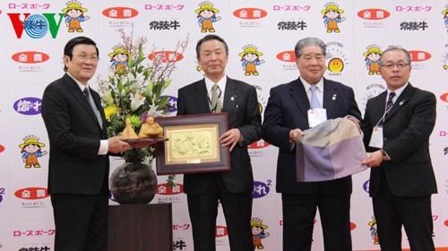 State President Truong Tan Sang visits Japan - ảnh 1