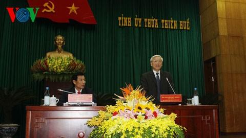 Party leader Nguyen Phu Trong visits Thua Thien Hue province - ảnh 1