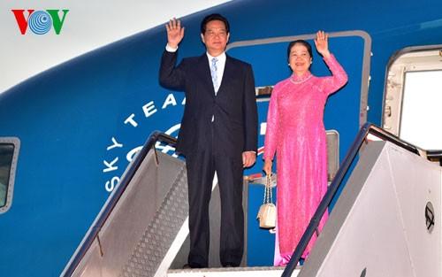 Prime Minister Nguyen Tan Dung arrives in Sydney - ảnh 1
