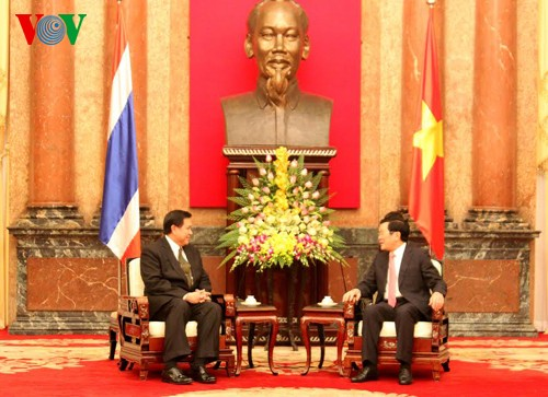 President Truong Tan Sang received Thai Deputy Prime Minister and Foreign Minister - ảnh 1