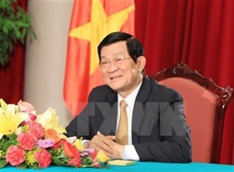 President Truong Tan Sang visits Laos - ảnh 1