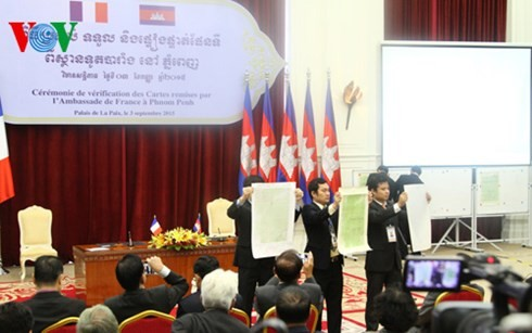 Cambodian government's demarcation map with Vietnam is consistent with those sent from France - ảnh 2