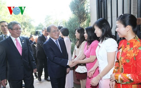 NA Chairman Nguyen Sinh Hung arrived in Washington D.C. during his official visit to the US - ảnh 1