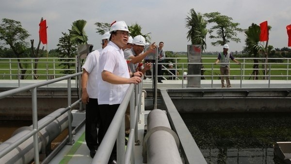 Modern wastewater treatment plant inaugurated in Bac Ninh - ảnh 1