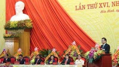 Hoa Binh province opens its 16th Party Congress - ảnh 1