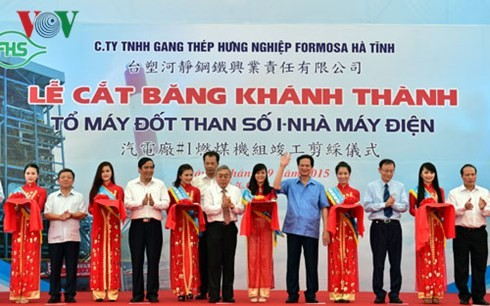 PM Nguyen Tan Dung participates at the launching ceremony of Vung Ang 1 Thermal Power Plant - ảnh 1