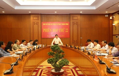 President chaired the 22nd session of the Central Steering Committee on Judicial Reform - ảnh 1