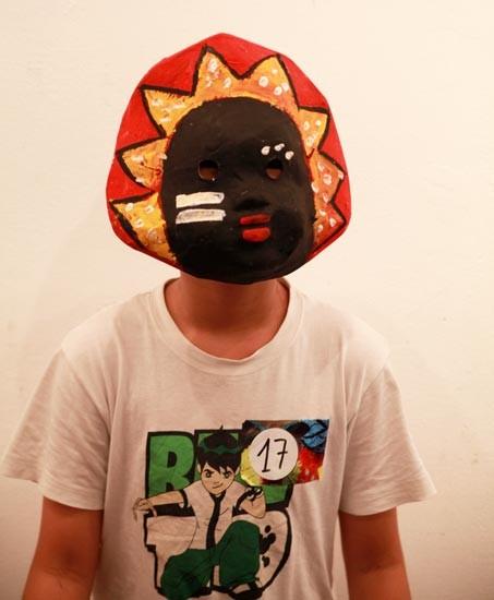 Making paper masks for Mid-autumn festival - ảnh 2