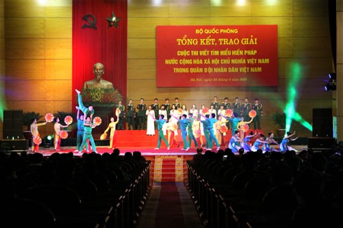Contest on 2013 Constitution in the army completes - ảnh 1