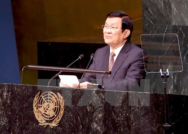 President Truong Tan Sang attends gender equality, CGI meetings - ảnh 1