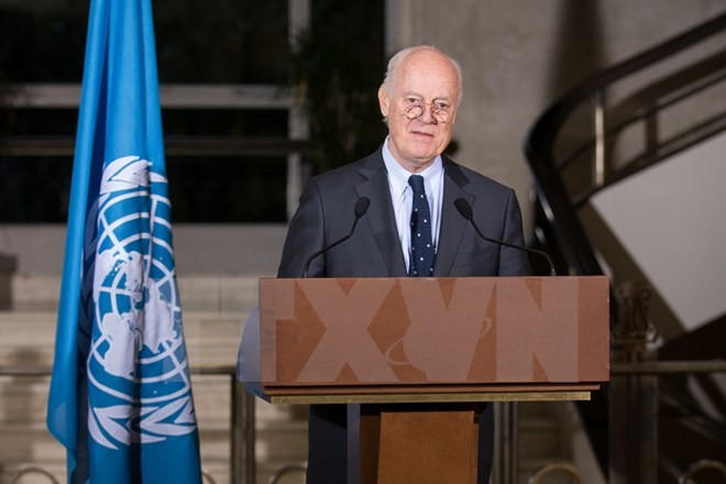 UN Special Envoy for Syria meets Syrian opposition's delegation - ảnh 1