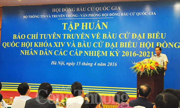 Communication training for National Assembly elections - ảnh 1