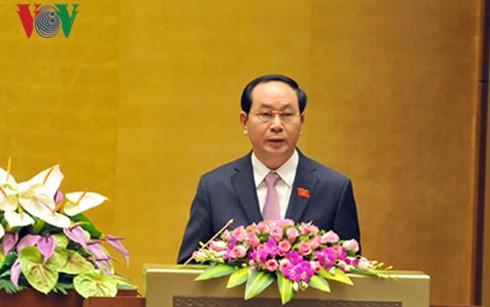 President Tran Dai Quang receives Cambodian Deputy PM Sar Kheng - ảnh 1