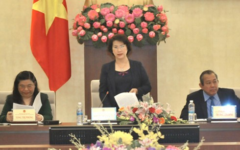 National Assembly Chairwoman inspects electoral preparations in Hai Duong - ảnh 1