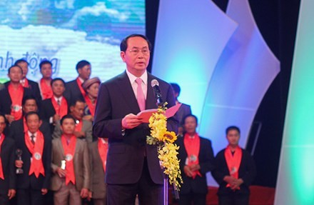 President Tran Dai Quang attends ceremony honoring Vietnamese farmers - ảnh 1